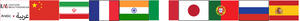 Flags representing languages for Covid-surveys-patient